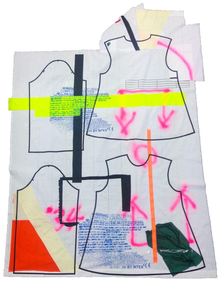 process collage colorful grafitti print