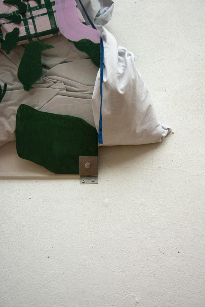 meaninglessness detail plexiglass pillow acrylic marker