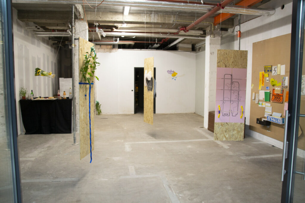 overview of the exhibition space in de gaard makerspand